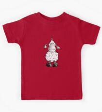 Cute And Fluffy Woolly Sheep Cartoon Kids Tee