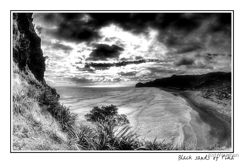 Black Sands of Piha by Ant Vaughan