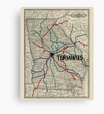 Terminus Map Canvas Print