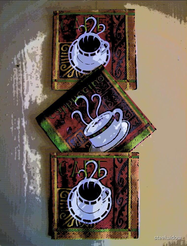 Comic Abstract Coffee Based Art by steelwidow