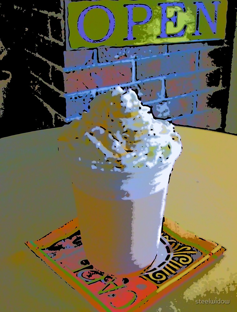 Comic Abstract Orange Smoothie by steelwidow