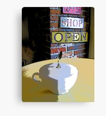 Comic Abstract Coffee Shop Tea Cup Canvas Print