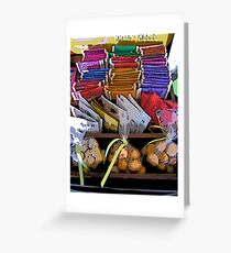 Comic Abstract Coffee Shop Tea Display Greeting Card