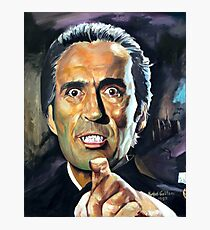 Christopher Lee Horror of Dracula poster Photographic Print