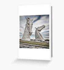 The Kelpies I Greeting Card