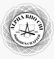 Alpha Rho Chi Isidorus Chapter Sticker