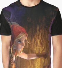 Lantern in a Dark Forest Graphic T-Shirt