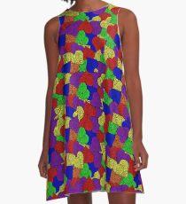 yarn heart pile A-Line Dress