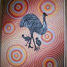 Emu walk-about by Derek Trayner