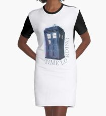 Time Lording Graphic T-Shirt Dress