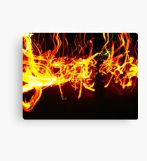 Pyro Dance  Canvas Print