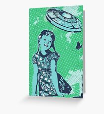 Vintage UFO Greeting Card
