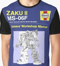 Gundam - Zaku ii - Owner's Manual Graphic T-Shirt