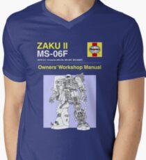 Gundam - Zaku ii - Owner's Manual Men's V-Neck T-Shirt