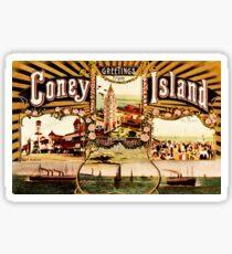 Coney island gifts merchandise redbubble greetings from coney island vintage fan art sticker m4hsunfo