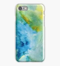 Blue & Yellow Watercolor iPhone Case/Skin