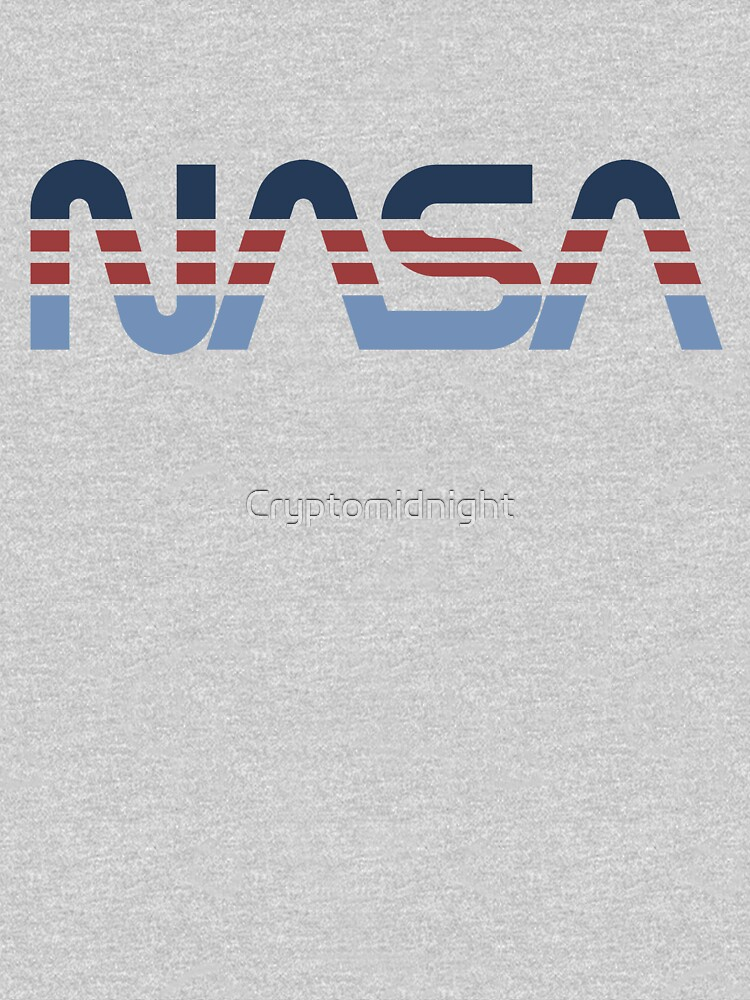 NASA Worm Retro Blue-Red-Blue by Cryptomidnight