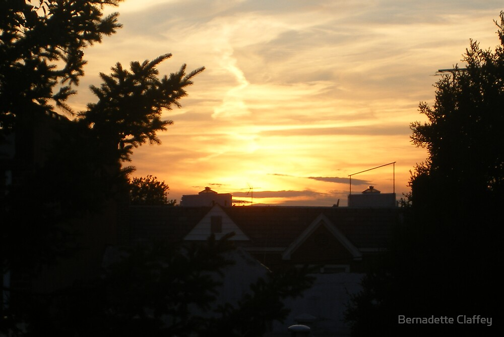 Golden Sunset by Bernadette Claffey