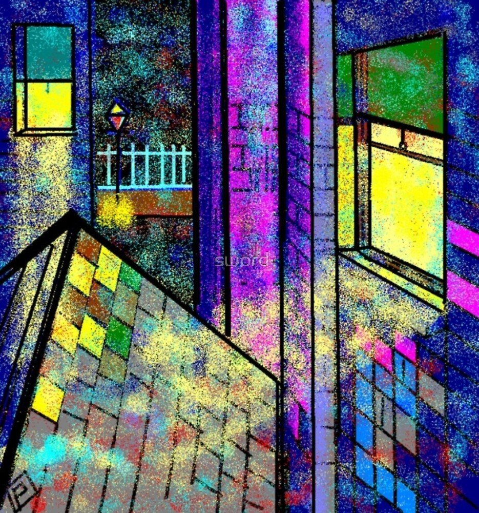 Rear window (from my computer digital painting) by sword