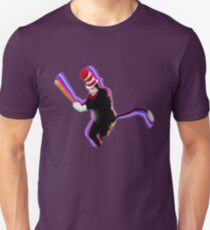 Cat in the Hat with a Bat Unisex T-Shirt