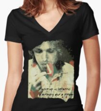 Tom Petty - Memory and a Dream Women's Fitted V-Neck T-Shirt