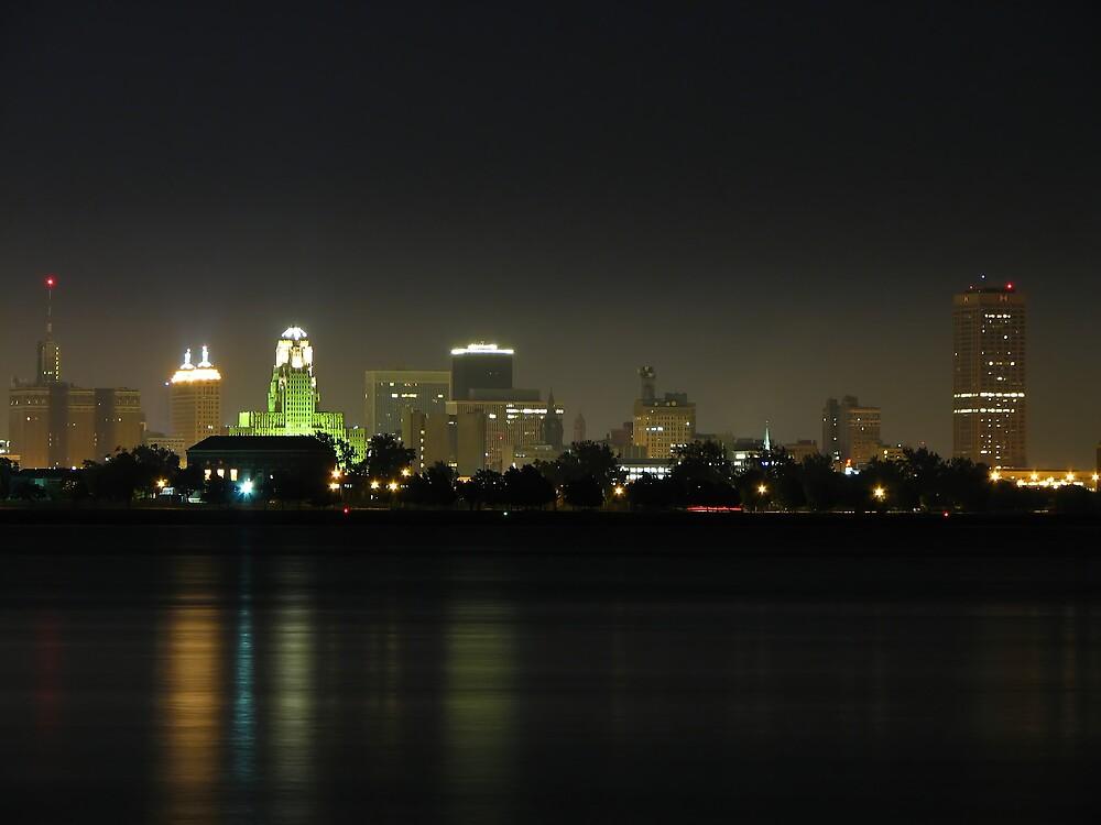 Buffalo at Night by rallysport