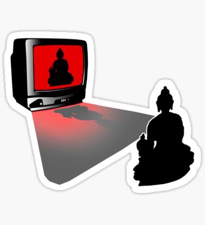 Idiot Box, False Idol or just Absurd? (Lights off - Black Tee) Sticker