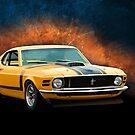 Orange 1970 Boss 302 Mustang by Stuart Row