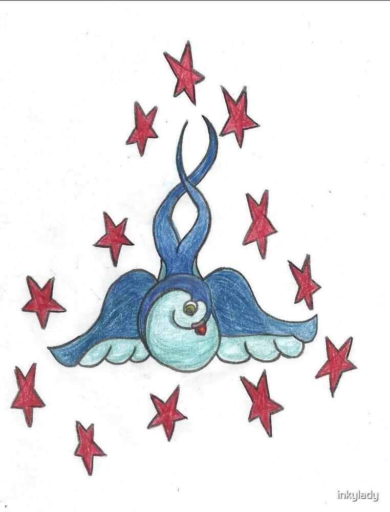 swallow & stars  by inkylady
