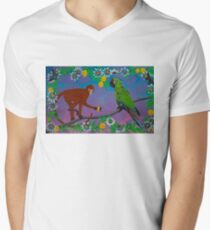 To Frida, with Love (rainbow background) Mens V-Neck T-Shirt