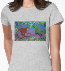 To Frida, with Love (rainbow background) Womens Fitted T-Shirt
