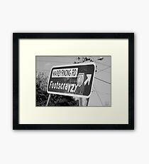 Footscrayzy Framed Print