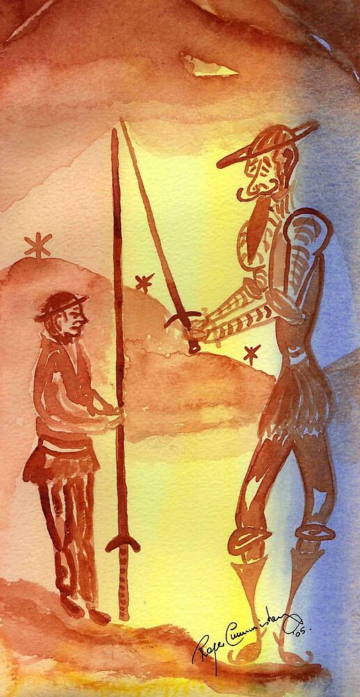 Quijote y Sancho by Roger Cummiskey