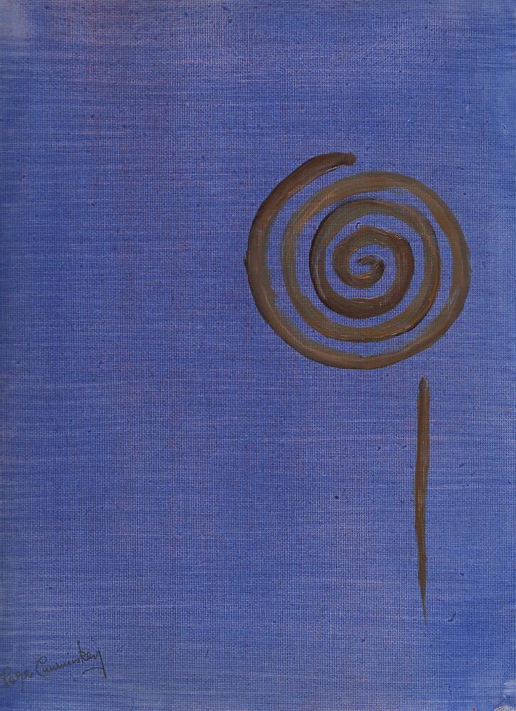 Curlique blue by Roger Cummiskey