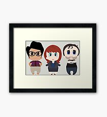 IT Crowd Chibis Framed Print