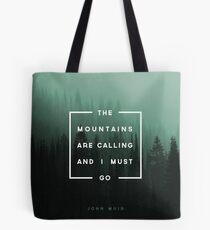 Bolsa de tela Las montañas están llamando y debo ir