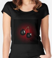 Black Cherry Women's Fitted Scoop T-Shirt