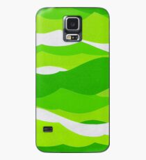 Waves - Lime green Case/Skin for Samsung Galaxy