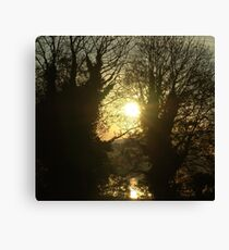 TWO SUNS Canvas Print