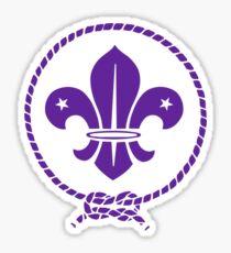 Fleur de Lis World Scout Sticker