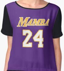 Mamba jersey Script 2 Chiffon Top