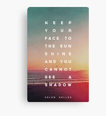 Face to the Sunshine Canvas Print