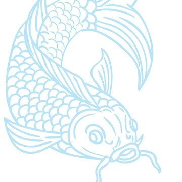 Koi Nishikigoi Carp Fish Diving Down Drawing by RalphMurphy