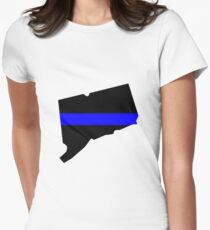 Thin Blue Line - Connecticut - Blue Lives Matter Graphic Women's Fitted T-Shirt