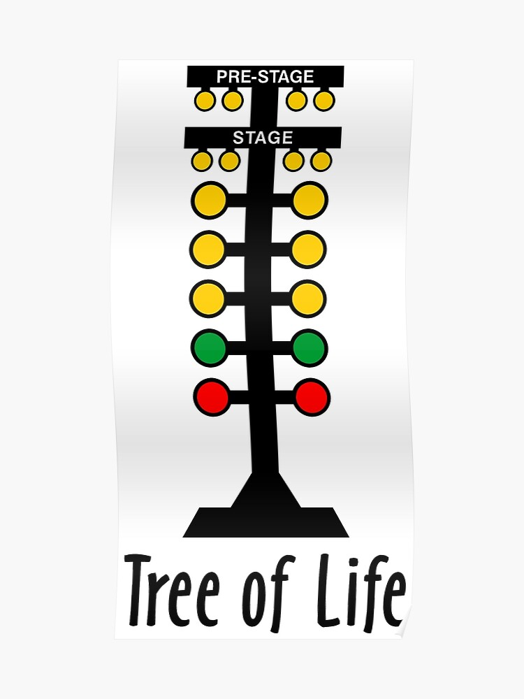 Drag Racing Tree Of Life Poster By Alienxpres51 Redbubble