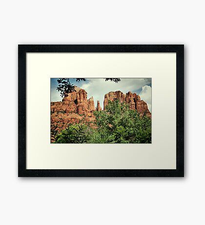 The Cathedral - Sedona Arizona - Red Rock Crossing - Color  Framed Print