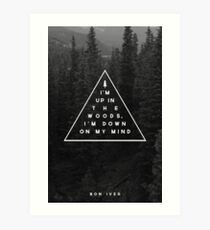 Woods -- Bon Iver Art Print