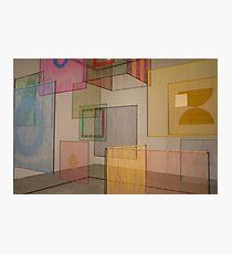coloured panels Photographic Print