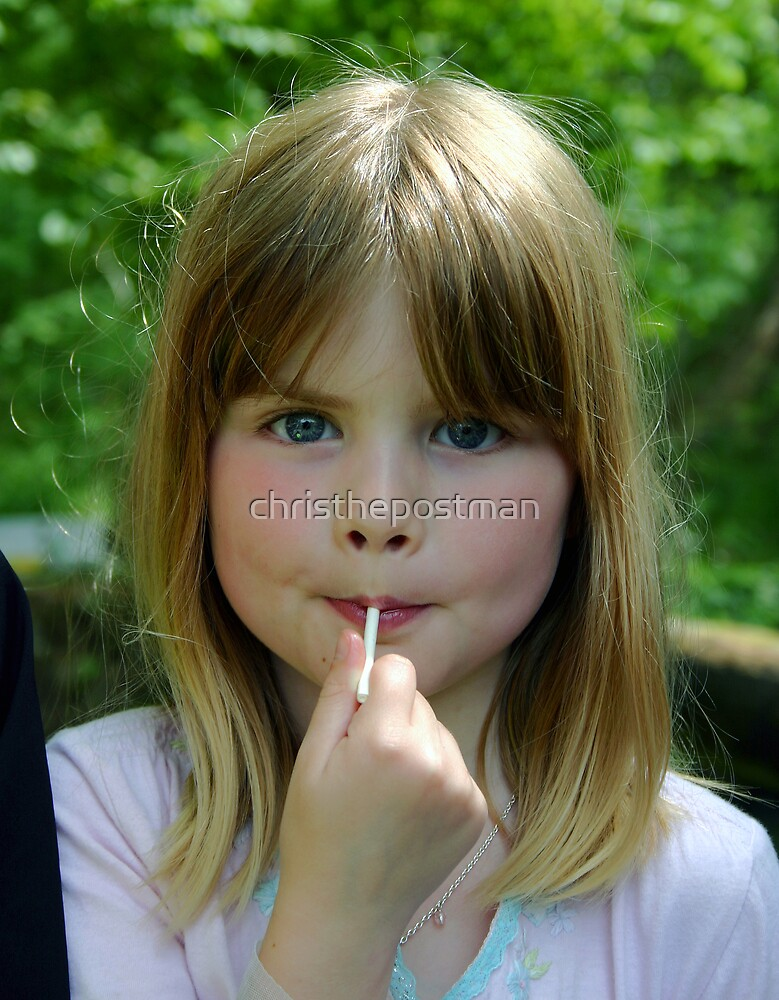 girl with a lollypop by christhepostman