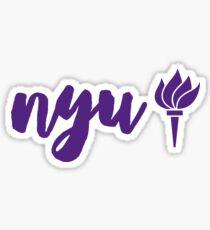 New York University Sticker
